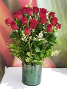 24 Red roses luxury