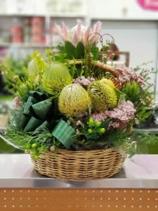 Native flowers basket
