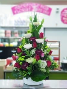 Traditional fresh flower arrangement