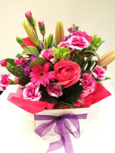 Zip pay me! Pretty in pink box arrangement